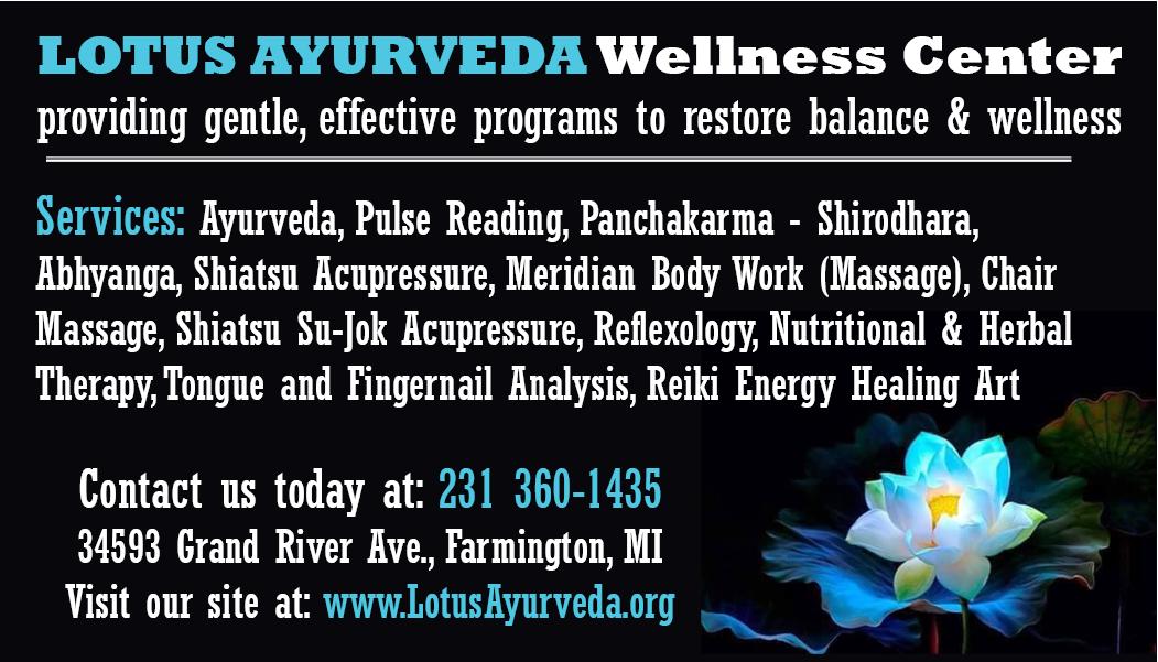 Natural Healing Arts at Lotus Ayurveda Wellness Center